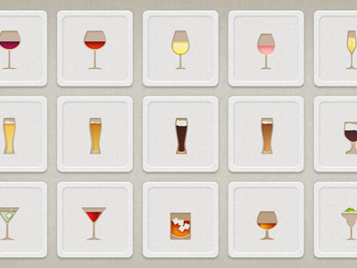 Shindig App Drink Icons beer wine cocktail icon drinks app vector