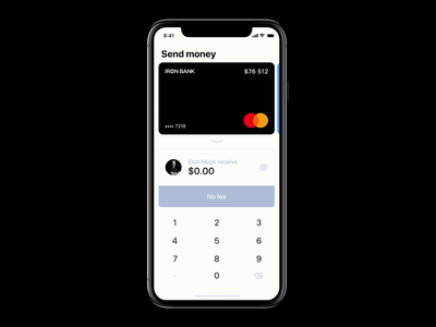 Apple Payments interaction concept /// Send money