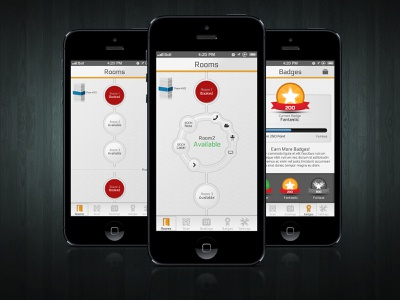 New Style Listview list ios app badge listview booking ux ui floor