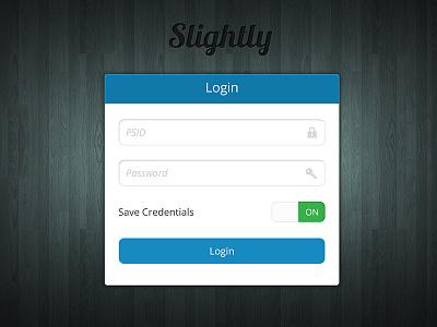 Slighly App Login login credentials app ios ui ux password switch smooth