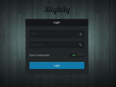 Slightly Login Black login password id ui ux ios ipad iphone switch screen