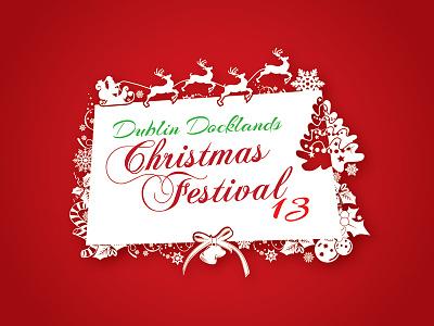Christmas banner 2013 christmas banner ad illustration art shape santa deer tree celebration