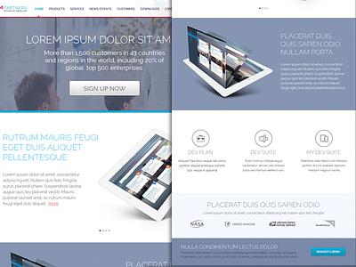 PM Partner Website Design website ipad ux ui crm services layout light soft color business solution clean