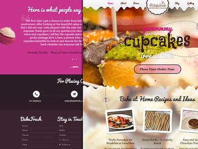 Bakefresh Website cake cupcake website clean fancy butterfly logo menu rish colorfull recipes bakery