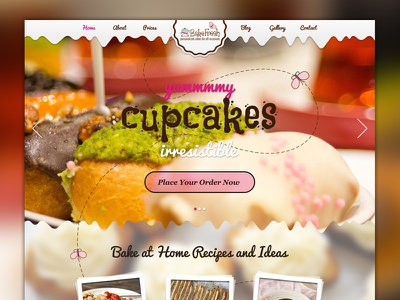 Backfresh Website Full Preview website cake cupcakes bakery restaurant baking fresh clean colorful blog butterfly recipes