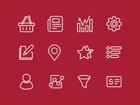 Vector Icon set for one of my project