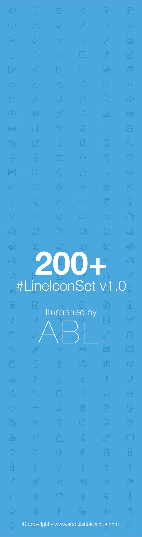 Lineiconset v1.0 fullset preview