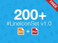 200+ LineIconSet v1.0 Download Free