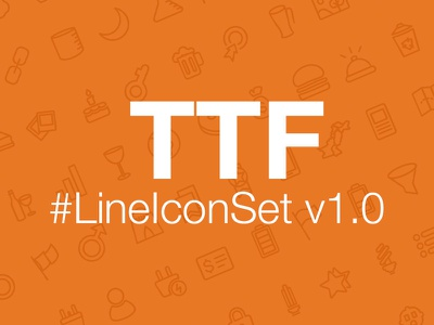 LineIconSet v1.0 Font File fonts icon vector illustration truetype type typography line