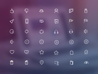 Lineiconset V2.0 cut playlist favorite devices sound play music delete illustration icon