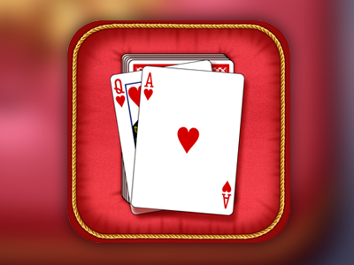 iPhone Game Icon game icon iphone app icon card game cushion gold ribbon app ios red