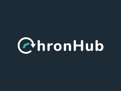 ChronHub - Logo saas clock time logo chronhub