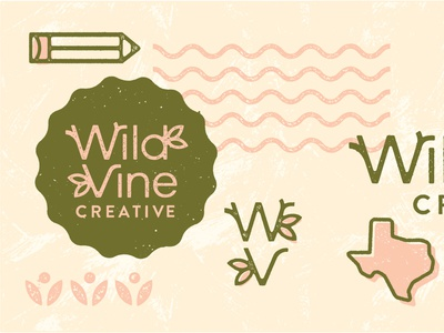 Wild Vine Creative organic logo personal project personal brand nature design nature brands logo design freelance illustrator freelance designer food brands brand redesign