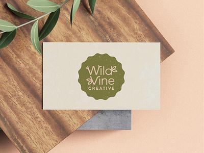 Wild Vine Business Card personal project freelance designer branding nature brands organic logo nature design personal brand freelance illustrator business card food brands brand redesign