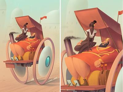 The King's new toy charachter design conceptart photoshop drawing digitalartist artist illustration design art