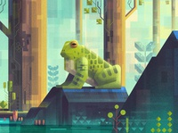 Frog of the jungle. Inspired by James Gilleard. photoshop drawing digitalartist artist illustration design art