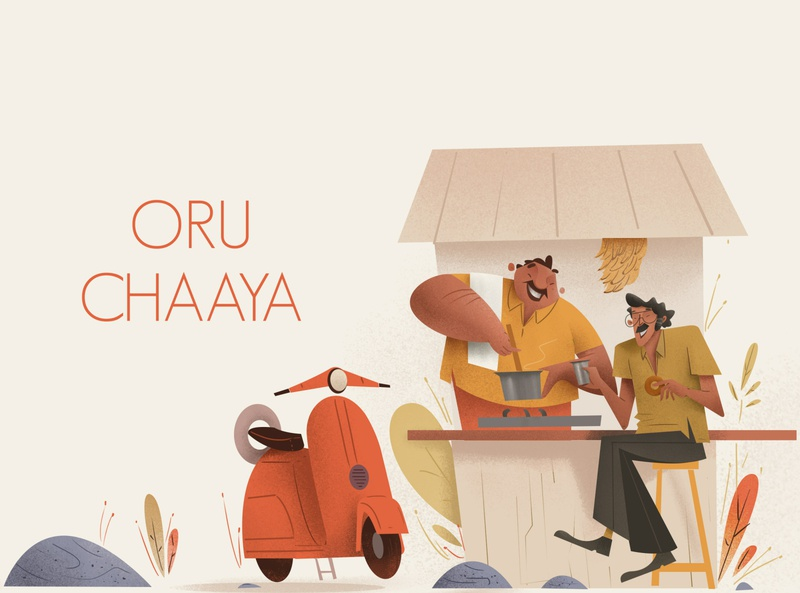 Cheta oru Chaaya branding photoshop digitalartist character artist illustration design art