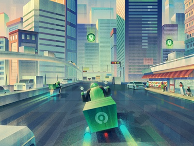 A case study of Gojek, for Obvious design. branding editorial animation drawing character photoshop digitalartist artist illustration design art