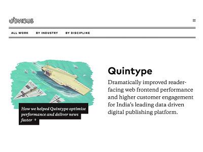 Quintype - deliver news faster userexperience branding ui illustration design art