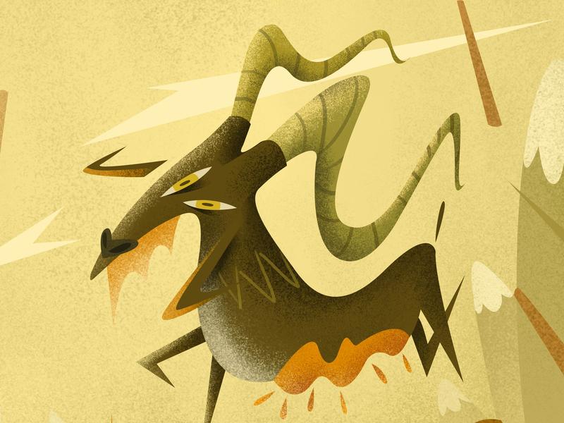 Goat animation conceptart character drawing digitalartist photoshop artist illustration design art