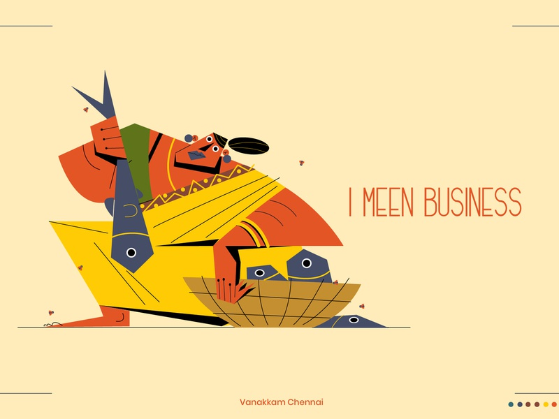 I 'Meen' business illustration design art