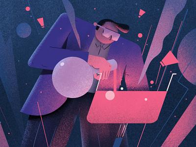 Saambaar in a beaker sketch conceptart character photoshop drawing digitalartist artist illustration design art
