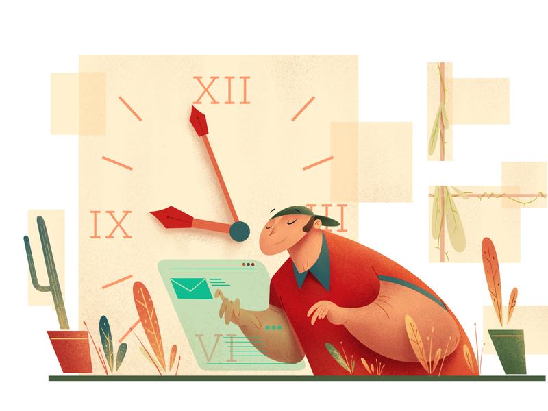 Sent on time! animation sketch character photoshop drawing digitalartist artist illustration design art