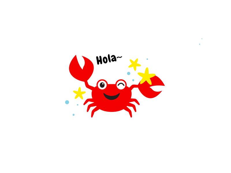 Crab sea hola icon vector illustration