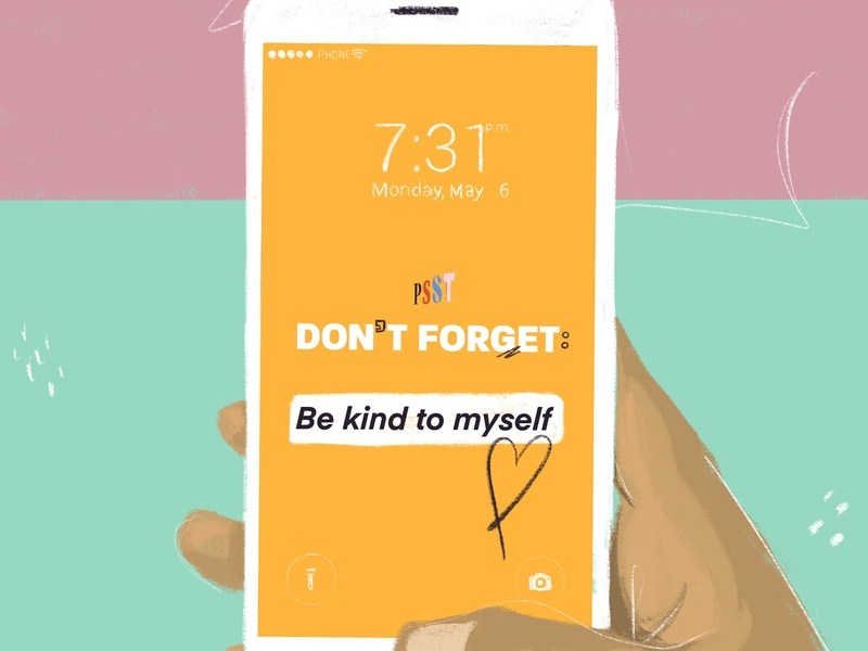 Customizable Message Iphone Wallpaper drawing positive illustration hand iphone type typography design
