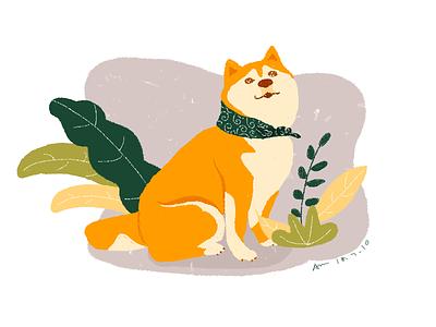 柴柴 cute illustrator dog