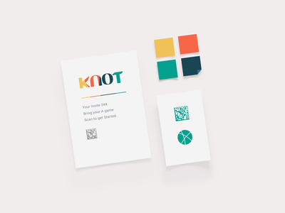 Knot Stationary digital-code invitation styles print with playing
