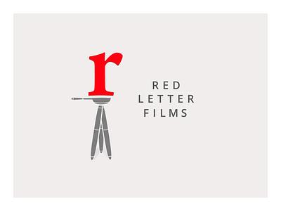 Film Company Logo red logo flat tri-pod film