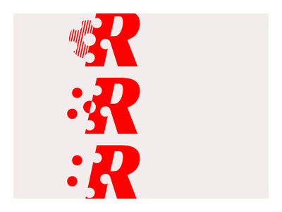 Red Letter 2 negative-space simple reel movies film flat logo red