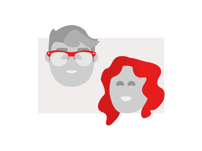 Client Avatars  😄 red-head glasses display-picture simple flat character avatar