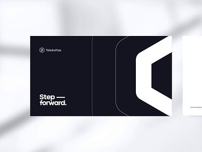 TeleSoftas Rebrand tech brandbook identity design identity gradient typography bold black  white minimal software house development it hexagon animation neon rebranding branding brand telesoftas