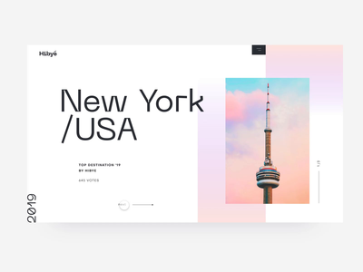 Top Travel Destinations adobe xd destination top review agency minimal barcelona santorini new york photo transition animation landing website web ui travel pastel gradient