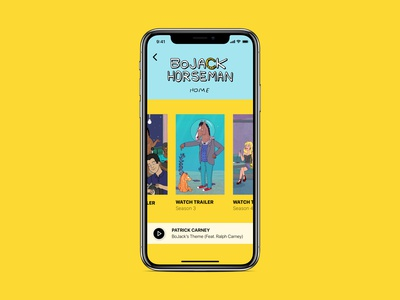 BoJack Horseman iOS redesign