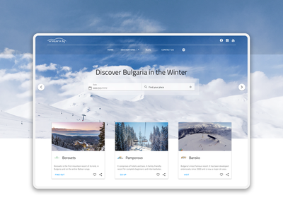 Booking Platform bulgaria snow winter platform booking travel indigo.design homepage