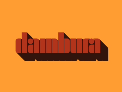 Dambura Font geometric vintage retro free stencil typeface typography font