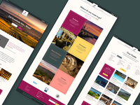 Wine tour website page design