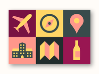 Wine tour colour icons