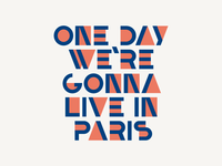 One day geometric font bifur france paris typography