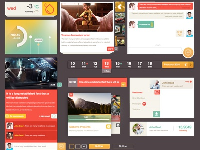 Ui Kit Monarch icon button ui navigation menu kit player clean metro like weather social