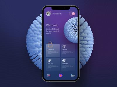 Wallet Profile design ui landing page web iphone app logo color