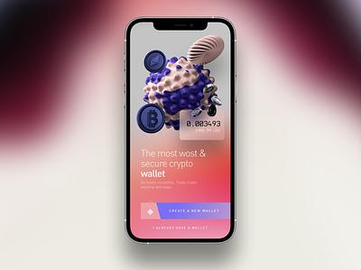 Crypto Wallet 3d branding logo motion graphics graphic design animation ui