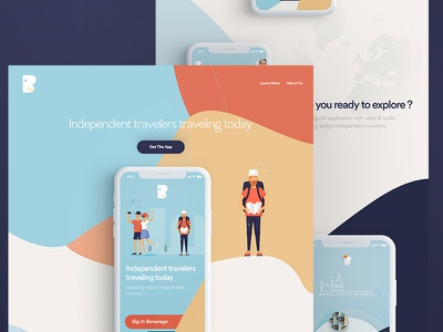 App Landing Page page landing traveling time logo color x iphone app travel