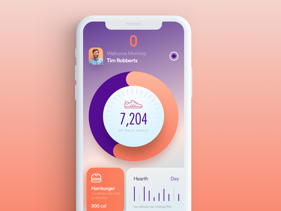 Home Page Fitness food dashboard responsive ui page web iphone app logo color