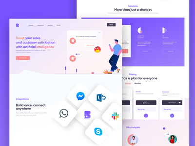 Landing Page dashboard icon responsive landing ui page web iphone logo color