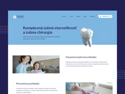 Dental institute landing page