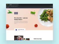 Minmalistic restaurant web 🥘